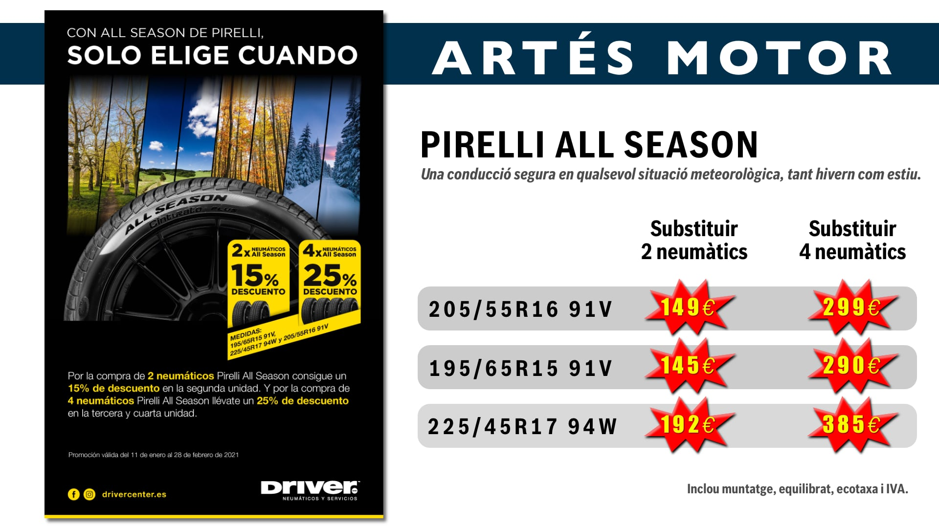Campanya Pirelli All Season